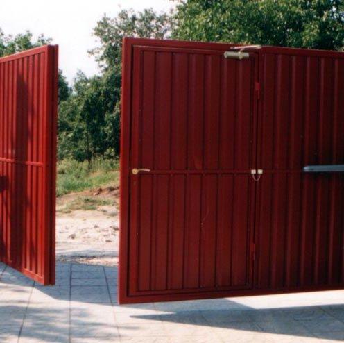Пример ворот, открываемых