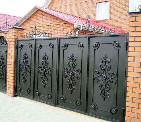 фото ворота металлические для
