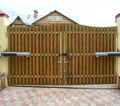 Распашные электрические ворота
